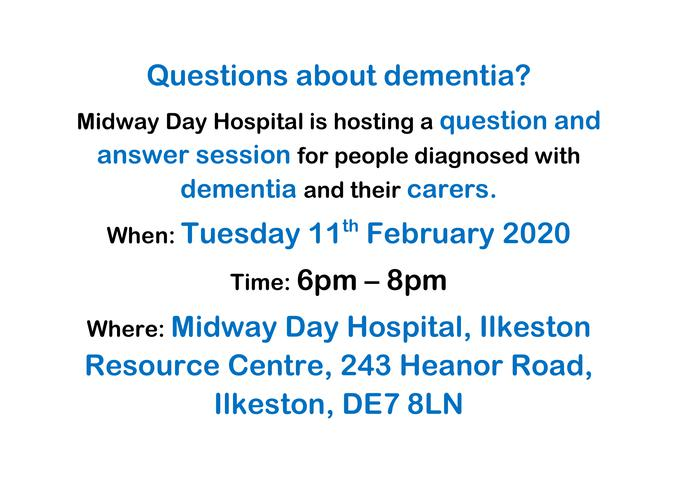 Questions about dementia?